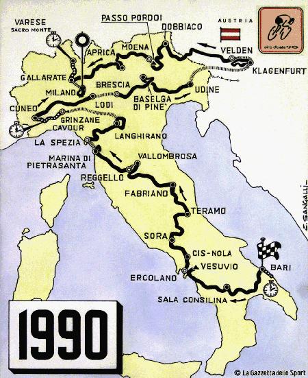 Mappa giro 1990